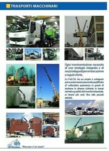 FATA Trasporti Macchinari Torino / FATA Traslochi Civili / Industriali Torino